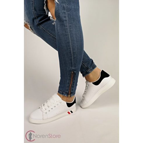 Platform fehér női cipő