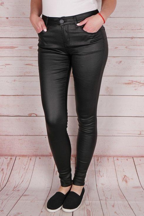 Push-up, fekete színű, műbőr nadrág XL