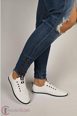 Fehér-fekete női cipő