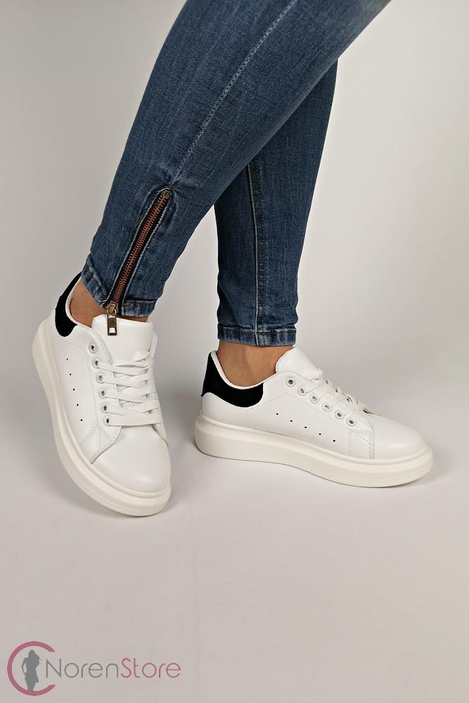 6d18903304 Platform fehér-fekete női cipő - Női ruha webáruház, női ruha ...