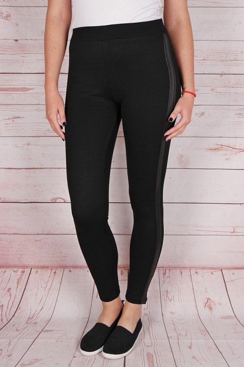 Gumis derekú, oldalt műbőr díszítésű leggings S,L,XL