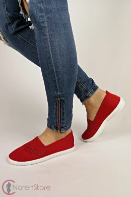 Piros slip-on női cipő