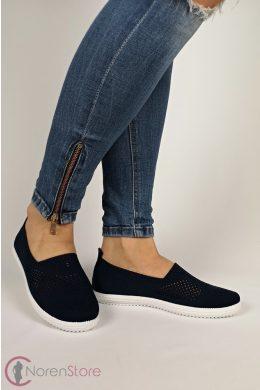 Sötétkék slip-on női cipő