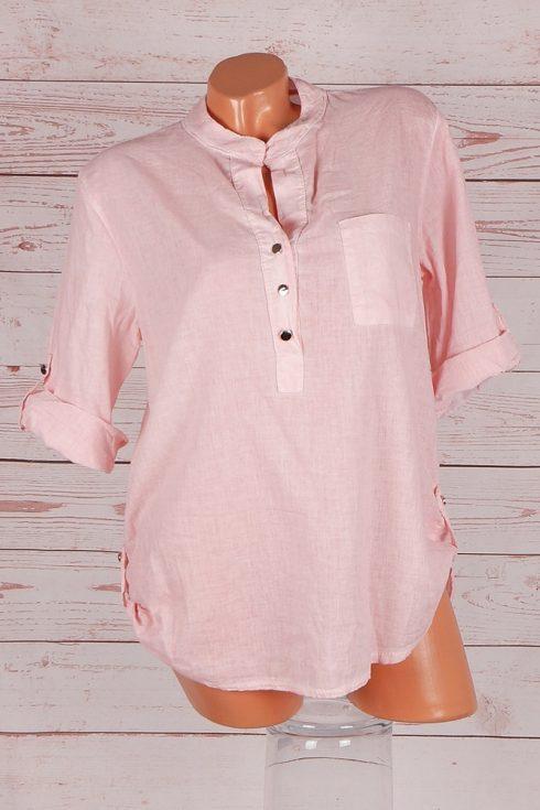 Roll-up ujjú, hátul hosszított, rózsaszín ing M,L,XL