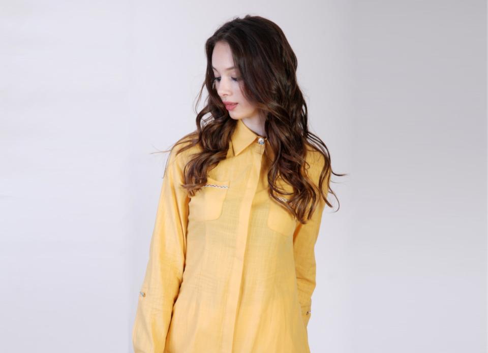 divatos sárga női ing